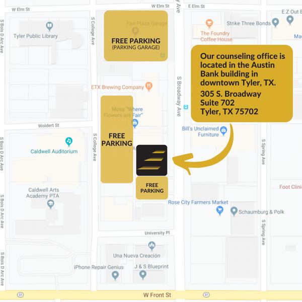 Next Step Office Parking Map